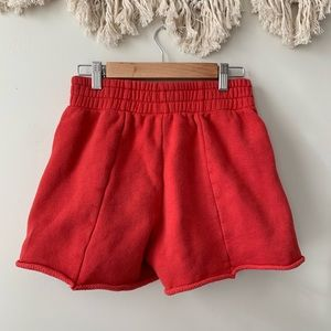 70019f22a7 Good American Shorts - Good American High Waist Cotton Shorts - Red